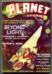 Planet Stories Pulp #5 Winter 1940- One Thousand Miles Below VG/F