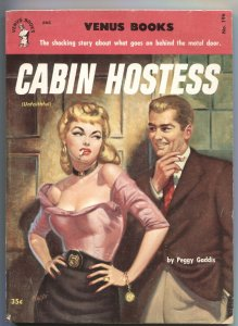 CABIN HOSTESS-VENUS BOOKS #196-1952-SPICY--RUDY NAPPI--PEGGY GADDIS