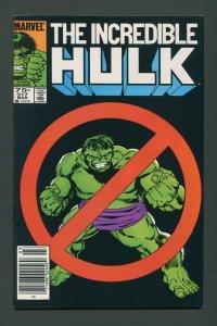 Incredible Hulk #317 /  8.0 VFN / Newsstand March 1986