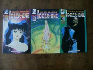 3 Antarctic Press AP Comic Book: GOLDEN WARRIOR LOZER ONE #3 #4 #5