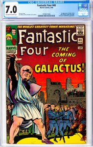 Fantastic Four #48 CGC Graded 7.0 1st appearance of Silver Surfer and Galactus