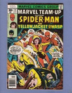 Marvel Team-Up #59 FN Spider-Man Wasp Yellowjacket Marvel 1977