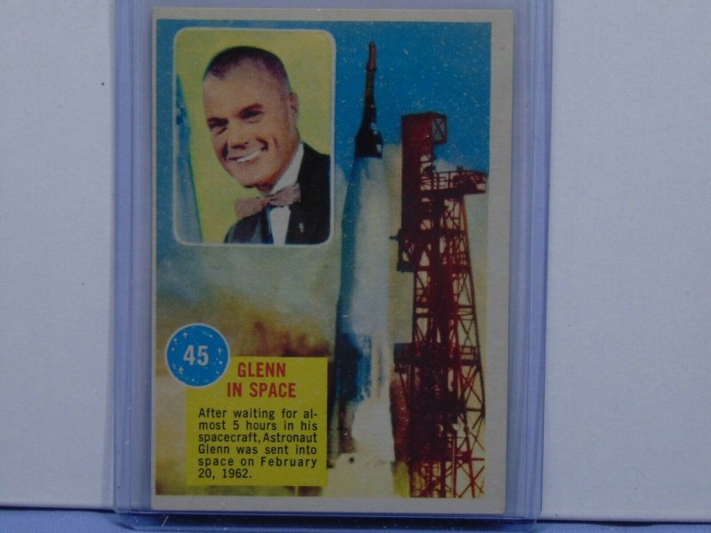 Eight 1963 Topps Astronauts Collectible Trading Cards John Glenn Project Mercury