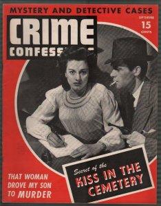 Crime Confessions9/1943-Lone Wolf's Last Shot -WWII era-lurid-violent pulp-VF
