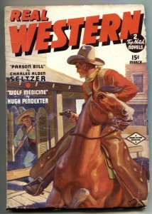 Real Western Pulp March 1937- Wolf Medicine- Parson Bill FN-