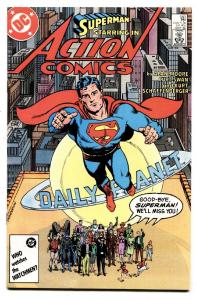 ACTION #583-ALAN MOORE-WHAT EVER HAPPENED TO SUPERMAN 1986 comic book