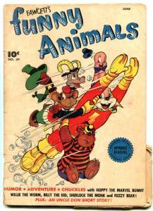 Fawcett's Funny Animals #39 1945- Sherlock Holmes Parody- Hopalong G
