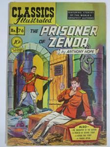 CLASSIC ILLUSTRATED #76 (G+) PRISONER OF ZENDA (1ST Edition, HRO=75) Oct 1950