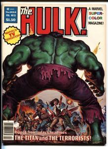 Hulk #13 1ST BILL SIENKIEWICZ story  - MOON KNIGHT 1978 Comic Magazine