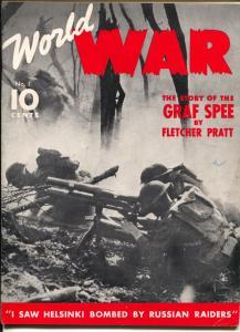 World War #1 1940-Dell-war pulp-Graf Zee-Mata Hari-Zeppelins-1st issue-FN/VF