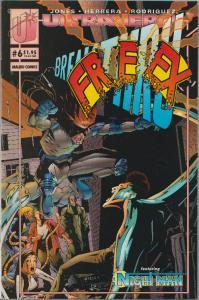 SALE! - FREEX VOL. #1 - ISSUE #6 - MALIBU  - BAGGED & BOARDED