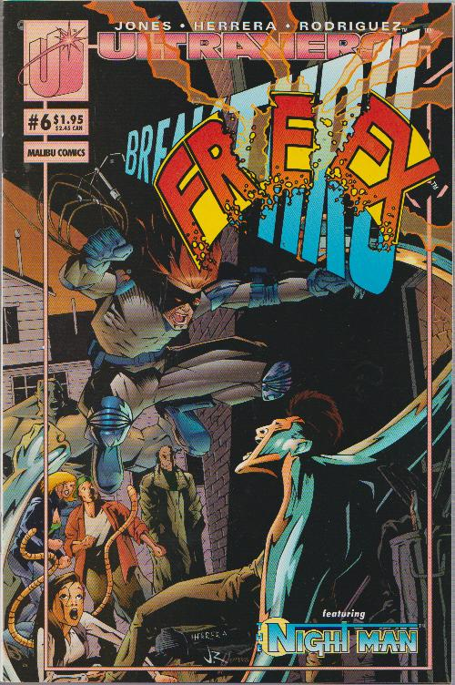 SALE! - FREEX VOL. #1 - ISSUE #6 - MALIBU  - BAGGED & BOARDED