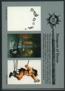 1992 FPG Ken Kelly Insert Hologram H1 - Dungeon Of Doom
