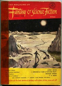 MAGAZINE OF FANTASY AND SCIENCE FICTION-Aug 1952-Science Fiction Pulp Thrills