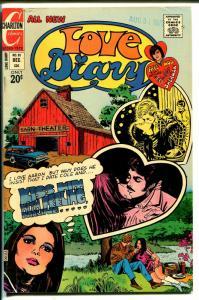 Love Diary #81 1972-Charlton-Bobby Sherman pin-up-nude woman panel-FN