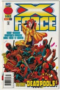 X-Force #56 Too Many Deadpools! July 1996 Marvel Comics Deadpool