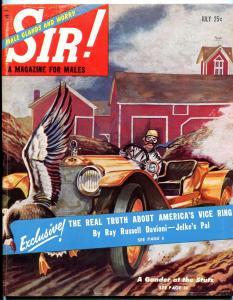 Sir! Magazine July 1953-ALBINO WHALE-OPIUM-STAN MUSIAL VG/FN