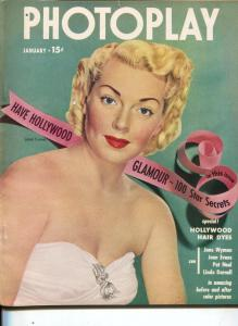 Photoplay-Lana Turner-Sally Forrest-Ruth Roman-Jan-1951