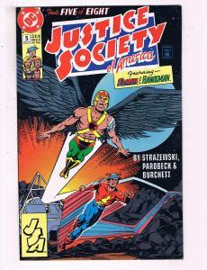 Justice Society Of America #5 VF DC Comics Comic Book Hawkman Flash DE17