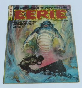 Eerie Magazine #3 VG+ 1966 Silver Age Horror Magazine Monstrous Fright Scary Mad