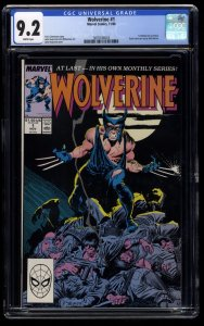 Wolverine #1 CGC NM- 9.2 White Pages 1st Patch!