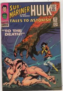 Tales to Astonish #80 (Jun-66) FN/VF+ High-Grade Incredible Hulk, Namor the S...