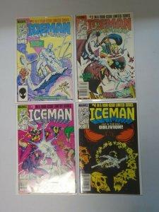 Iceman set #1-4 8.0 VF+ (1984 1st Mini-Series)