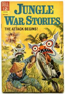 Jungle War Stories #10 1965- Motorcycle cover- Dell Silver Age FN