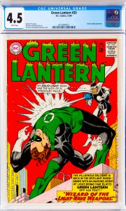 Green Lantern #33 CGC Graded 4.5 Doctor Light appearance.