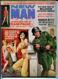 New Man #2-6/1963-Mafia-spicy harem girls-weird menace-torture art-cheesecake-VG
