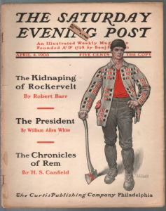 Saturday Evening Post 4/4/1903-JJ Gould-100+ years old-pulp fiction-G/VG