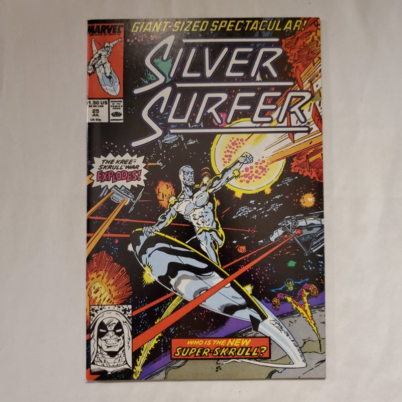 Silver Surfer 25 Near Mint- Art by Joe Rubinstein