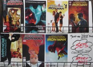 INTERNATIONAL IRON MAN (Marvel, 2016) #1-7,COMPLETE! VF-NM! Bendis, Maleev!
