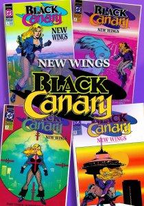 BLACK CANARY : NEW WINGS #1-4 (1991-92) 9.0 VF/NM  • Dinah Lance Mini-Series