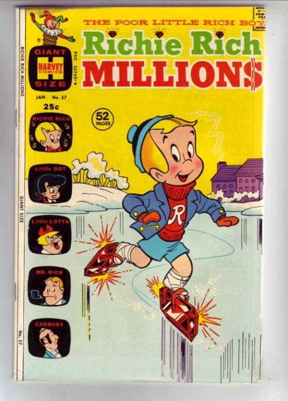 Richie Rich Millions #57 (Jan-73) NM- High-Grade Richie Rich