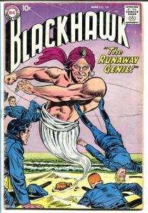 BLACKHAWK #134 1959 DC RUNAWAY GENIE CIRCUS STORY! VG-