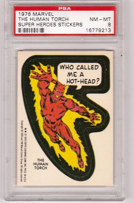 1976 Marvel Human Torch Sticker PSA 8 (NM-MT)