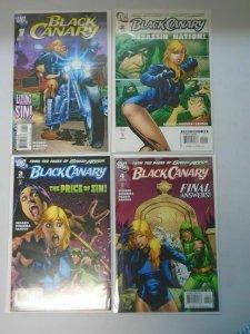 Black Canaray set #1-4 8.0/VF (2007 3rd Series)