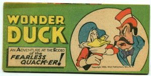 Wonder Duck Adventures at the Rodeo promo comic Timely 1950