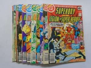 12 Different Superboy (1st Series DC) From:#246-257, Average 6.0 (1978-1979)