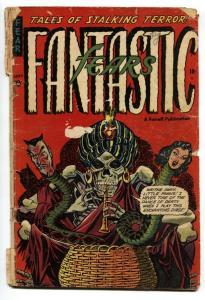 Fantastic Fears #3 1953- Skull cover- Pre-code horror incomplete