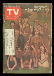 TV Guide April 28 1973- Southern Ohio edition- The Waltons