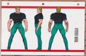 Official Handbook of the Marvel Universe Sheet- Hydro-Man
