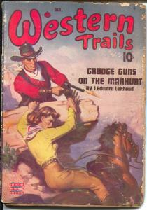 Western Trails 10/1939-Ace-pulp thrills-George J Rozen cover-G
