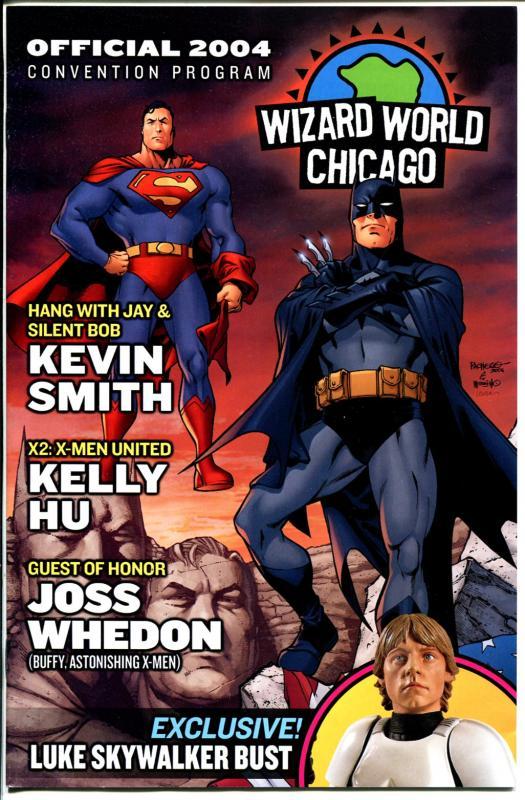 Wizard World Chicago Program Book 2004-Batman & Superman cover-FN