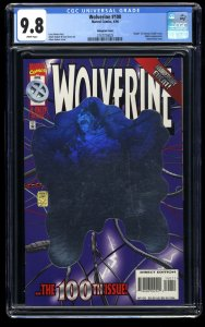Wolverine #100 CGC NM/M 9.8 White Pages Hologram Variant Cover!