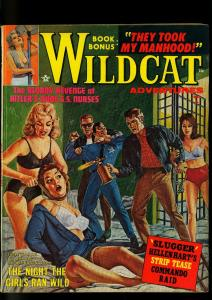 Wildcat Adventures Pulp October 1962- Spicy Prison Break cover- SS Nurses -VG-