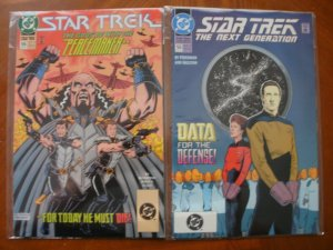 2 STAR TREK #55 DC Comic: Original Series & The Next Generation (1993)