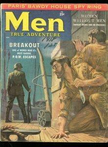MEN MAGAZINE APRIL 1958-POW ESCAPES-SPY RING-WW II-POW G/VG