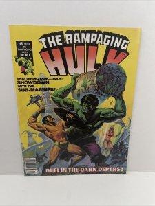 Rampaging Hulk #6 1977 Marvel Magazine